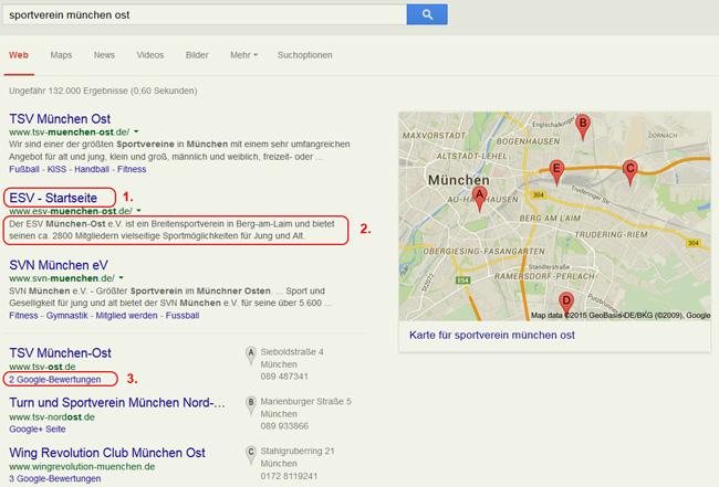 Lokale Suchmaschinenoptimierung für Vereine